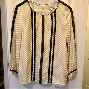 J. Crew long sleeve blouse, silk and cotton